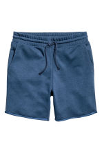 Knee-length sweatshirt shorts - Navy blue - Men | H&M CN 2