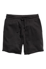 Knee-length sweatshirt shorts - Black - Men | H&M 2