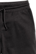 Knee-length sweatshirt shorts - Black -  | H&M CA 4