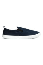 Slip-on trainers - Dark blue - Men | H&M 1