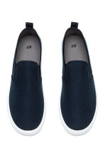 Slip-on trainers - Dark blue - Men | H&M 2