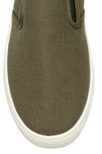 Slip-on trainers - Khaki green - Men | H&M 3