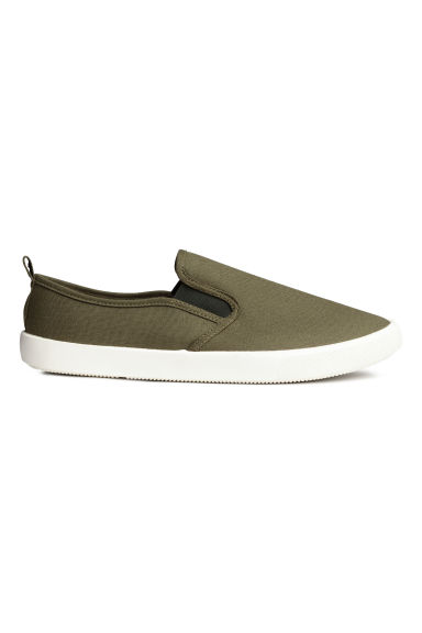 Slip-on trainers - Khaki green - Men | H&M CN 1