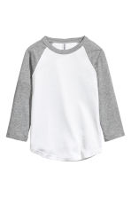 Baseball shirt - Grey marl - Ladies | H&M 2