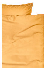Cotton duvet cover set - Mustard yellow - Home All | H&M CN 2