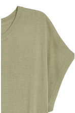 Fine-knit top - Light khaki green -  | H&M 3