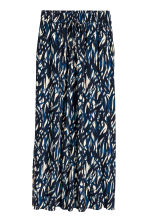 Crinkled skirt - Natural white/Blue/Patterned - Ladies | H&M CN 2