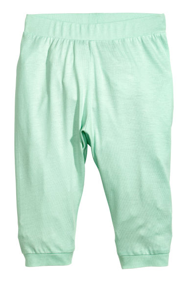 Jersey trousers - Mint green -  | H&M CA 1