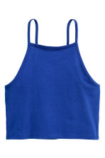 Cropped top - Cornflower blue -  | H&M CN 2