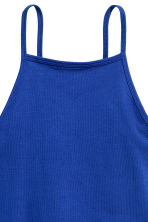 Cropped top - Cornflower blue -  | H&M CN 3