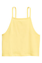 Cropped top - Yellow - Ladies | H&M 2