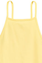 Cropped top - Yellow - Ladies | H&M 3