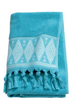 Bath towel with embroidery - Turquoise - Home All | H&M CN 2