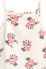 Crop top with a lace trim - Natural white/Floral - Ladies | H&M 3