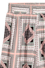 Wide trousers - Powder pink/Pattern - Ladies | H&M CN 3