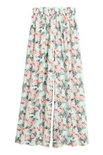 Wide trousers - Mint green/Floral - Ladies | H&M CN 2