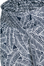 MAMA Jersey trousers - Dark blue/Patterned - Ladies | H&M CN 3