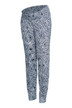 MAMA Jersey trousers - Dark blue/Patterned - Ladies | H&M CN 2