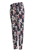 MAMA Jersey trousers - Dark blue/Floral - Ladies | H&M 2