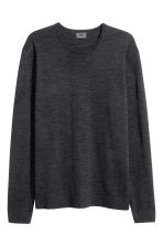 Merino wool jumper - Dark grey marl - Men | H&M CN 2