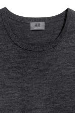 Merino wool jumper - Dark grey marl - Men | H&M 3