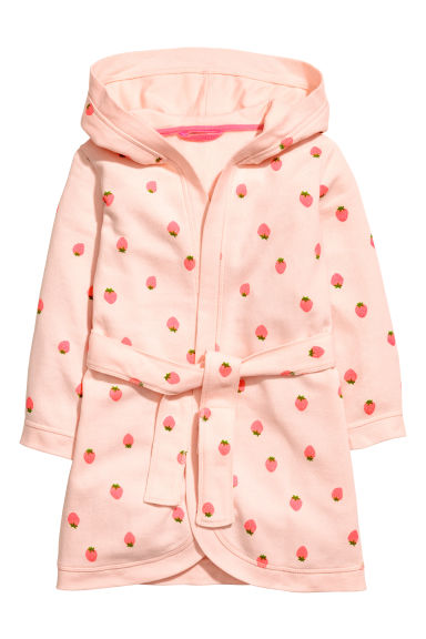 Dressing gown - Powder pink/Strawberries - Kids | H&M 1