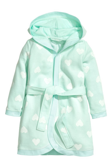 Dressing gown - Mint green/Heart - Kids | H&M 1
