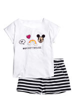 Jersey pyjamas - White/Mickey Mouse - Kids | H&M CN 1