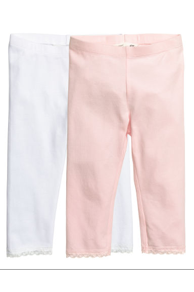 Lot de 2 leggings 3/4 - Rose clair - ENFANT | H&M FR