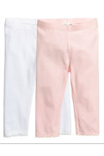 Lot de 2 leggings 3/4 - Rose clair - ENFANT | H&M FR 1