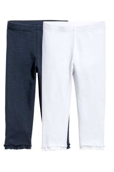 2-pack 3/4-length leggings - Dark blue - Kids | H&M 1