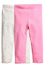 2-pack 3/4-length leggings - Pink -  | H&M 2