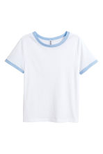 Short T-shirt - White - Ladies | H&M 2