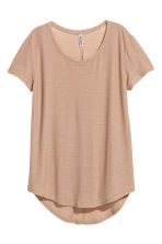 Jersey crêpe top - Beige - Ladies | H&M 2