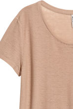 Jersey crêpe top - Beige - Ladies | H&M 3