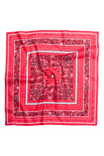 Patterned scarf - Red - Ladies | H&M CN 2