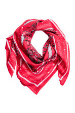 Patterned scarf - Red - Ladies | H&M CN 1
