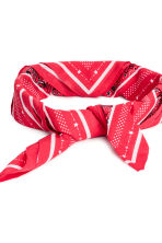 Patterned scarf - Red - Ladies | H&M CN 3