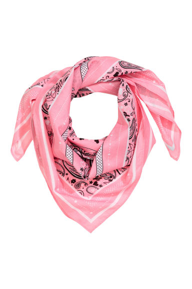 Patterned scarf - Pink - Ladies | H&M 1