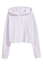 Cropped hooded top - Lilac - Ladies | H&M 2