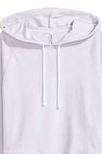 Cropped hooded top - Lilac - Ladies | H&M 3