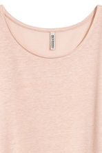Long linen-blend T-shirt - Powder beige - Ladies | H&M 3