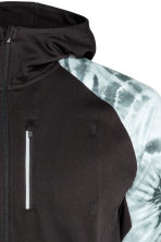 Hooded running jacket - Black/Patterned - Men | H&M CN 3