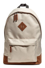 Backpack - Beige/Cognac brown - Men | H&M 1