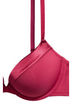 Super push-up microfibre bra - Deep red - Ladies | H&M CN 3