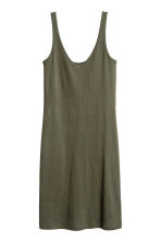 Jersey dress - Dark khaki green - Ladies | H&M CA 2