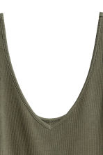 Jersey dress - Dark khaki green - Ladies | H&M CA 3
