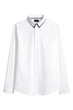 Stretch shirt Slim fit - White - Men | H&M 1