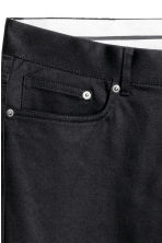 Premium cotton twill trousers - Black - Men | H&M 3