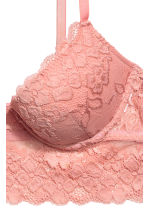 Lace bralette - Salmon pink - Ladies | H&M 3
